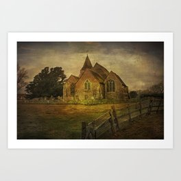 St Clement's Old Romney From The East Art Print