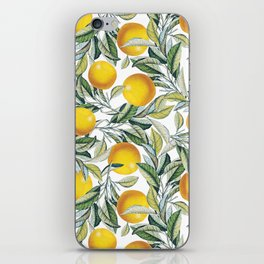 Lemon and Leaf Pattern VI iPhone Skin