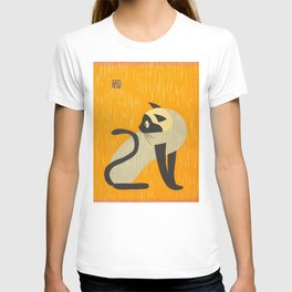 Asai Kiyoshi Japanese Woodblock Siamese Cat Midcounty Modern Art T-shirt