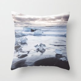Ice Beach - Landscape and Nature Photography Throw Pillow
