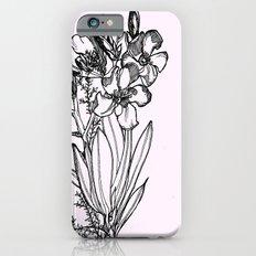 flower in black ink Slim Case iPhone 6s