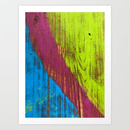 RGB bench worn paint Art Print