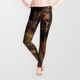 Chocolate and Gold Leggings