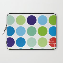 Be unique green blue polka dots Laptop Sleeve