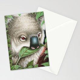 Koala Munching a Leaf Stationery Cards