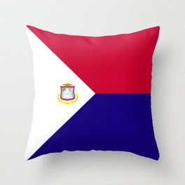 Saint Martin flag emblem Throw Pillow