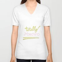 moschino V-neck T-shirts featuring Totally Moschino Black by RickyRicardo787