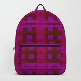 Neon Glow Plaid Backpack