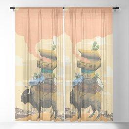 BUFFALO TRAVELS Sheer Curtain