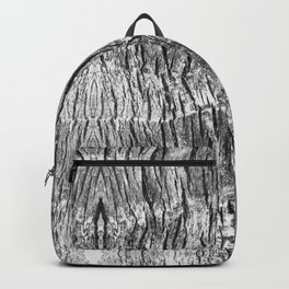 gray wood grain texture biophilic wood nature print Backpack