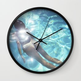 Naked Swimmer Wall Clock
