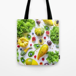 Fruits and vegetables pattern (1) Tote Bag