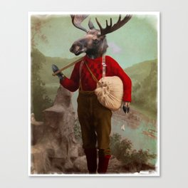 Lumberjack Marvin Moose Canvas Print