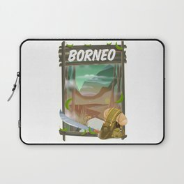 Borneo Jungle poster. Laptop Sleeve