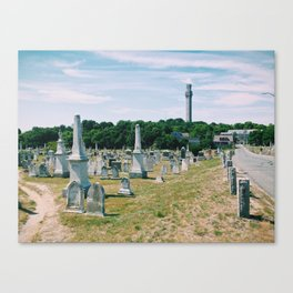Provincetown Cemetery, MA Canvas Print