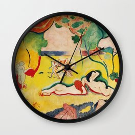 The Joy of Life - Henri Matisse - Exhibition Poster Poster Wall Clock