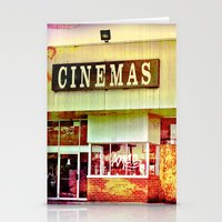 cinema Stationery Cards featuring Abandoned Cinema by Elina Cate