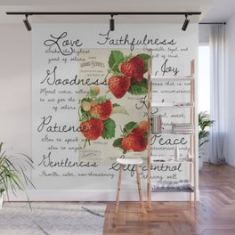 Strawberries and Fruit of the Spirit Explained  Wall Mural