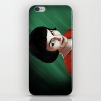 amelie iPhone & iPod Skins featuring Amelie by Jon Cain