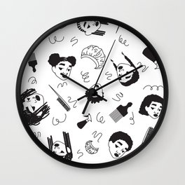 Curl Pattern Wall Clock