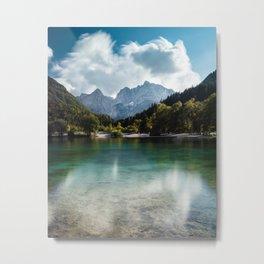 Lake Jasna in Kranjska Gora, Slovenia Metal Print
