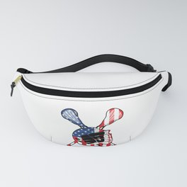 A Sports Tee For Sporty You With An Illustration Of A Helmet American Flag T-shirt Design America Fanny Pack