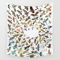 font Wall Tapestries featuring Birds by Ben Giles