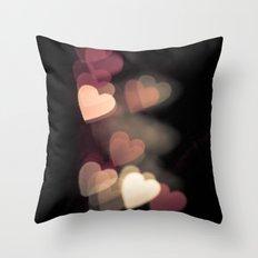 Valentine in pink Throw Pillow