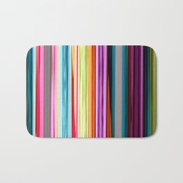 Rainbow colored striped abstract geometrical pattern Bath Mat
