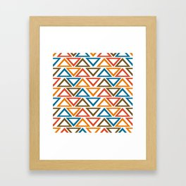 ColorFull Triangle Seamless Pattern Framed Art Print