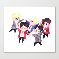 shinee Canvas Prints featuring Shining SHINee by sophillustration