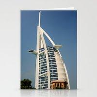 arab Stationery Cards featuring Dubai - Burj Al Arab by gdesai
