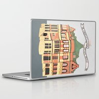 archer Laptop & iPad Skins featuring Archer Avenue by Nan Lawson
