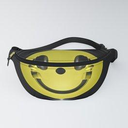 Vinyl headphone smiley Fanny Pack