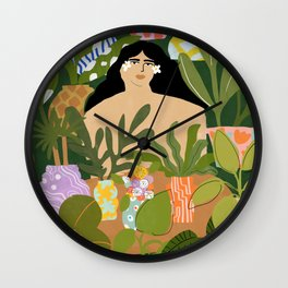 I Need More Plants Wall Clock
