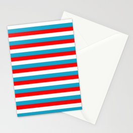 luxembourg flag stripes Stationery Cards