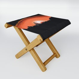 """God's Sunset"" with poem: Serenity Folding Stool"