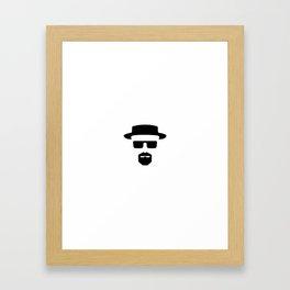 Say my name. Framed Art Print