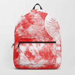 Elephant Snow White on Red Backpack