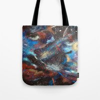 """courage Tote Bags featuring """"Courage"""" by Kasia Pawlak"""