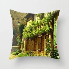 La Petit Ruelle Throw Pillow