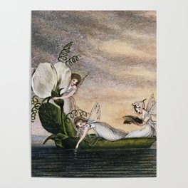 """""""Fairies Floating Downstream"""" by Amelia Jane Murray Poster"""