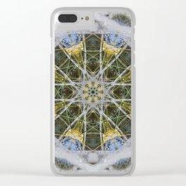 Fountain Mandala (#083c) Clear iPhone Case