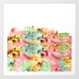Cape Town Skyline Art Print