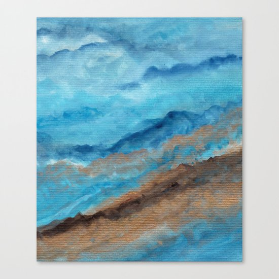 Watercolor abstract landscape 20 Canvas Print