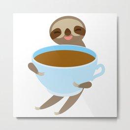 sloth & coffee 3 Metal Print