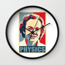 Richard Feynman Physics Wall Clock
