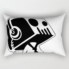 Boxed Skull, Named Ick - Business and Pleasure Rectangular Pillow