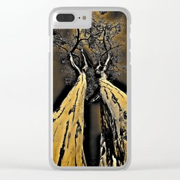 Twin Trees Clear iPhone Case