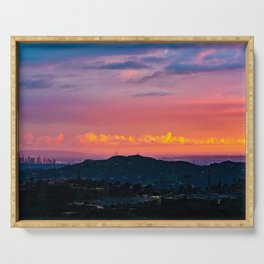 Los Angeles Sunset Serving Tray